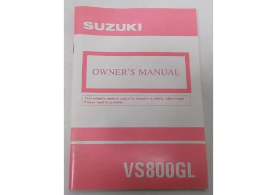 Owners Manual VS 800 GL Intruder 1992 99011-39A52-03A