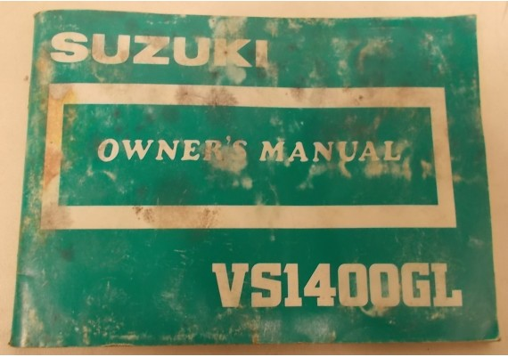 Owners Manual VS 1400 GL Intruder 1986 99011-38B50-03A