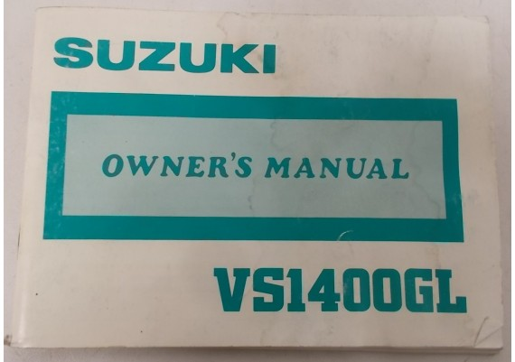 Owners Manual VS 1400 GL Intruder 1987 99011-38B51-03A