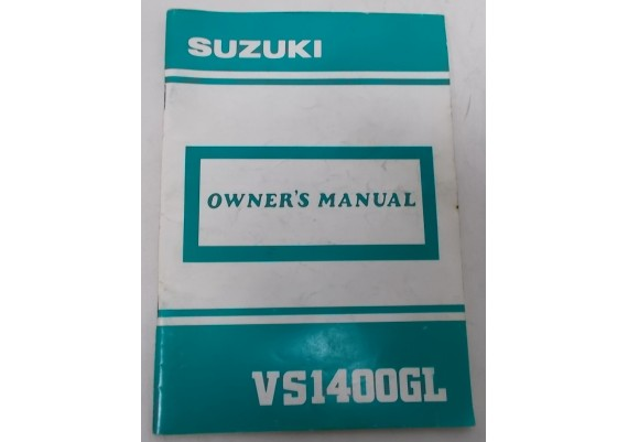Owners Manual VS 1400 GL Intruder 1989 99011-38-B53-03A