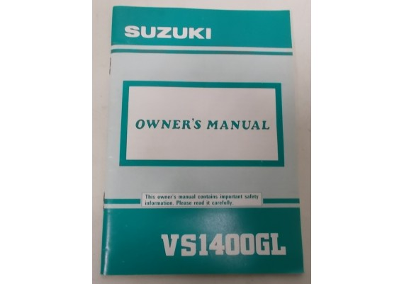 Owners Manual VS 1400 GL Intruder 1990 99011-38B54-03A