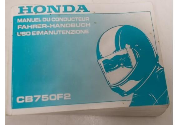 Owners Manual CB 750 F2 1992 Frans/Duits/Italiaans 00X37-MW3-8000