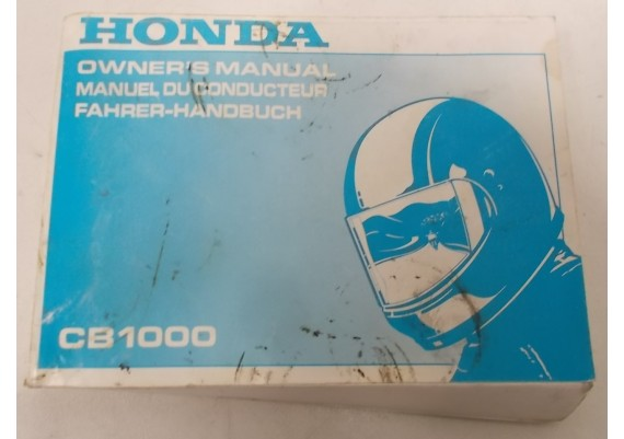 Owners Manual CB 1000 1994 Engels/Frans/Duits 00X37-MZ1-6100