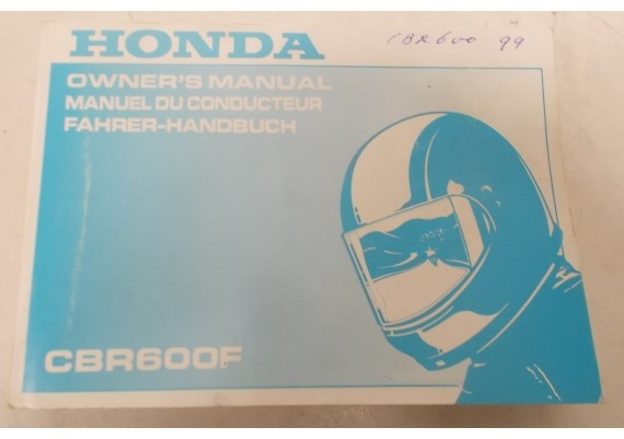 Owners Manual CBR 600 F 1999 Engels/Frans/Duits 00X37-MBW-6001
