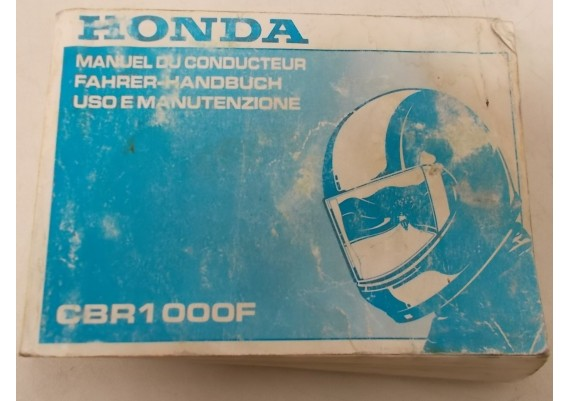 Owners Manual CBR 1000 F 1992 Frans/Duits/Italiaans 00X37-MW7-8100