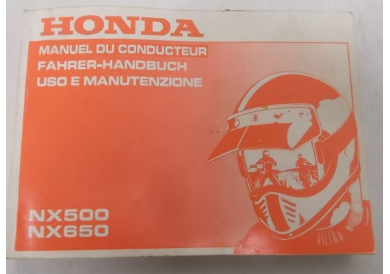 Owners Manual NX 500 / NX 650 1991 Frans/Duits/Italiaans 00X37-MW2-8100