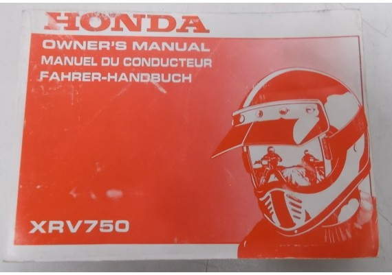 Owners Manual XRV 750 1995 Engels/Frans/Duits 00X37-MY1-6200