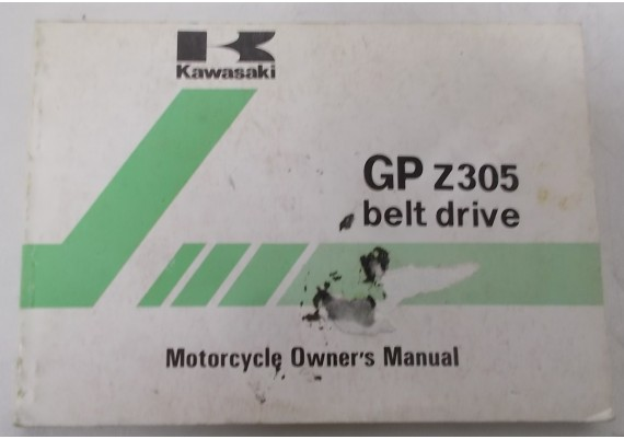 Owners Manual GPz 305 EX305-B1 9920-1201-01