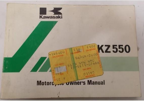 Owners Manual KZ 550 KZ550-A3 99920-1135-01