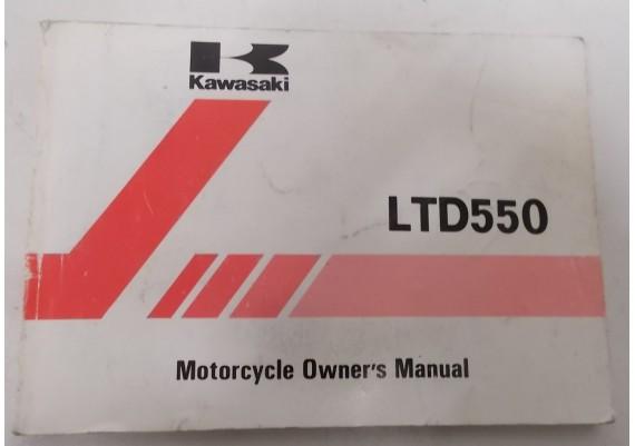Owners Manual LTD 550 KZ550-F2 99920-1237-01