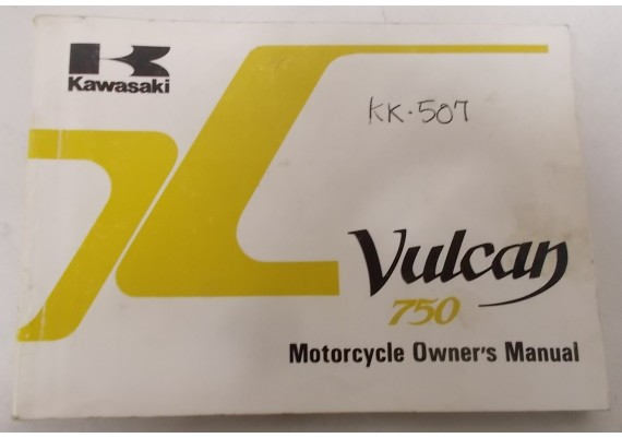 Owners Manual VN 750 Vulcan VN750-A3 99920-1358-01
