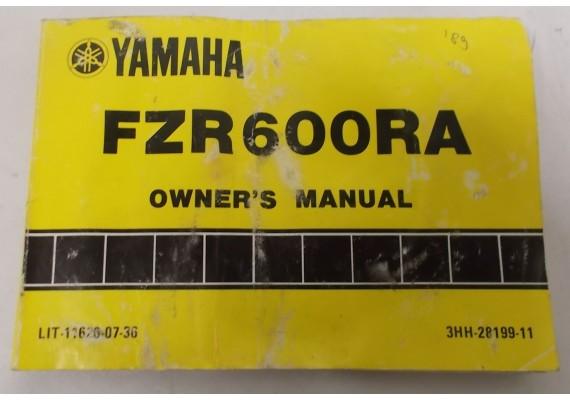 Owners Manual FZR600RA 1989 3HH-28199-11