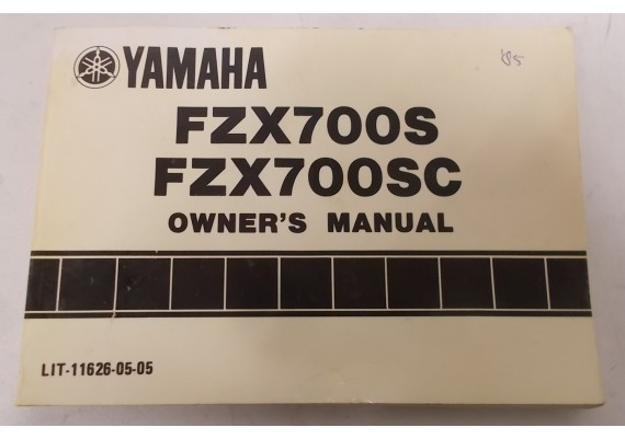 Owners Manual FZX700S/FZX700SC 1985 LIT-11626-05-05