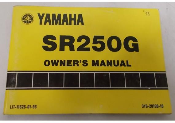 Owners Manual SR250G 1979 3Y6-28199-10