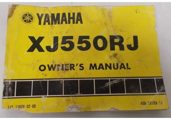 Owners Manual XJ550RJ 1981 4U8-28199-11