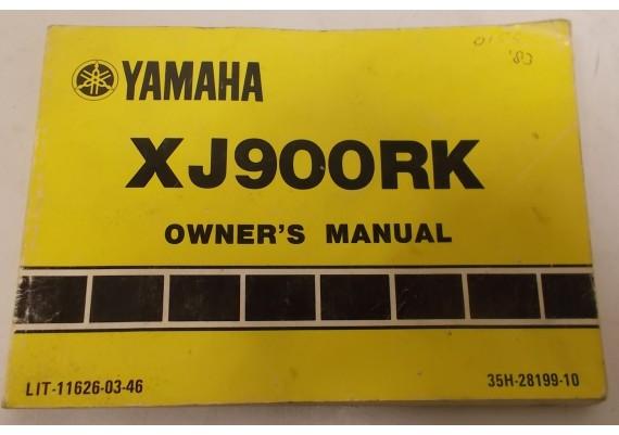 Owners Manual XJ900RK 1983 35H-28199-10