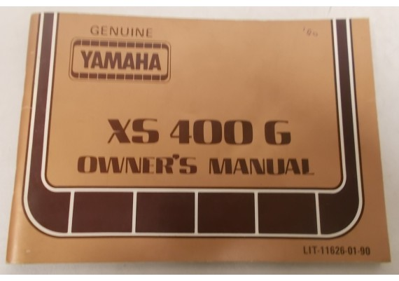 Owners Manual XS400G 1980 LIT-11626-01-90