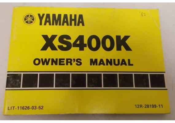 Owners Manual XS400K 1982 12R-28199-11