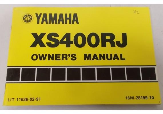 Owners Manual XS400RJ 1982 16M-28199-10
