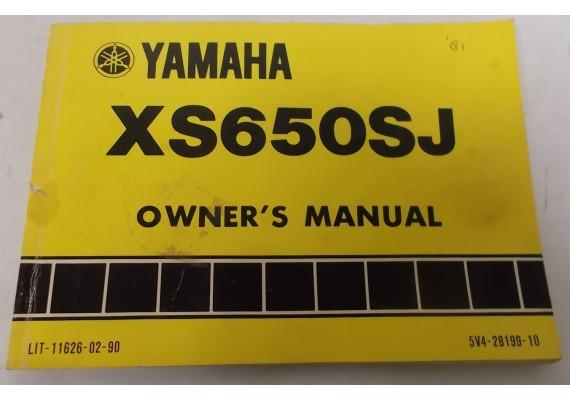 Owners Manual XS650SJ 1981 5V4-28199-10
