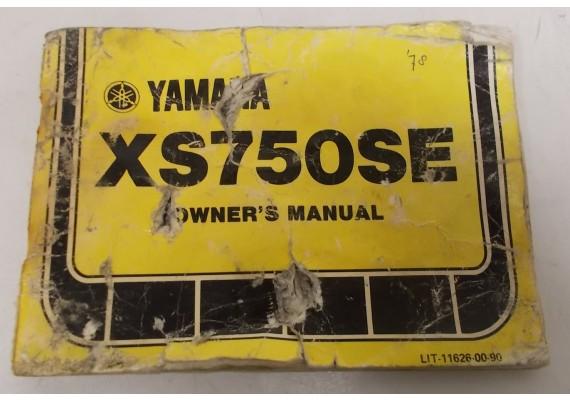 Owners Manual XS750SE 1978 LIT-11626-00-90