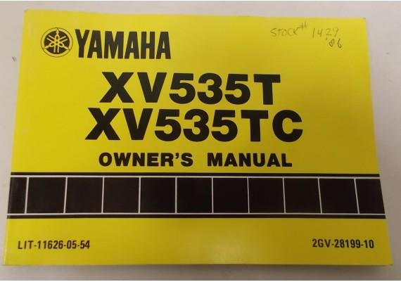 Owners Manual XV535T/XV535TC 1986 2GV-28199-10