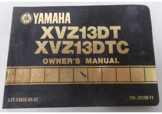 Owners Manual XVX13DT/XVZ13DTC 1986 1NL-28199-11