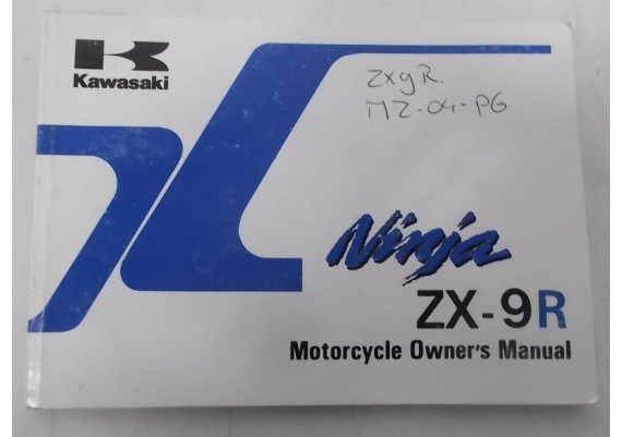 Owners Manual ZX-9R 1998 99922-1878-03