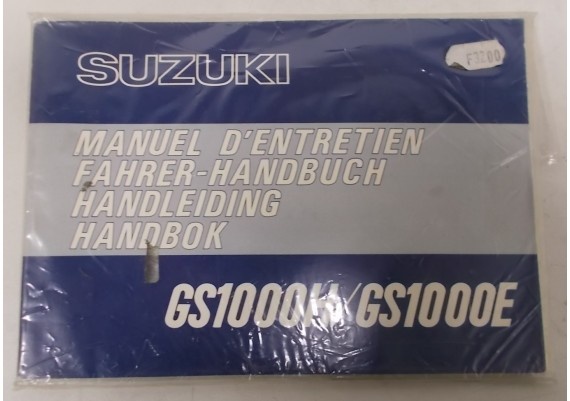 Owners Manual GS 1000 H / GS 1000 E 1978 NIEUW in verpakking Ned/Frans/Duits/Zweeds 99011-49021-04V