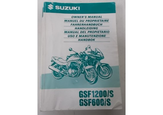Owners Manual GSF 1200/S - GSF 600/S 1997 Ned/Eng/Duits o.a. 99011-27E52-042