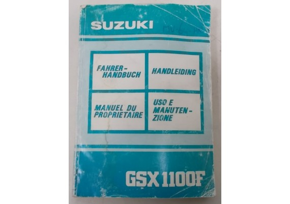 Owners Manual GSX 1100 F 1990 Ned/Frans/Duits/Zweeds 99011-48B54-022