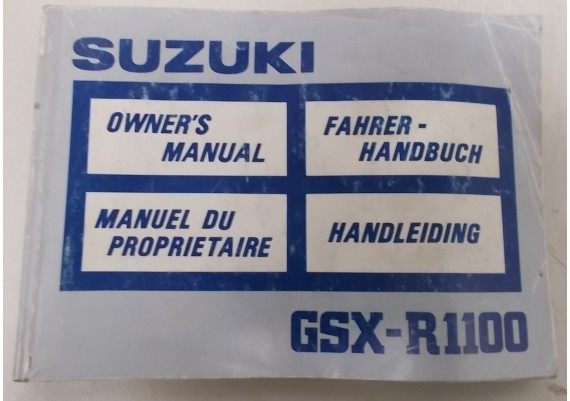 Owners Manual GSX-R 1100 1988 Ned/Eng/Frans/Duits 99011-40C50-01U