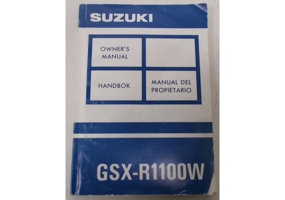 Owners Manual GSX-R 1100 W 1992 Eng/Spaans/Zweeds 99011-46E50-032