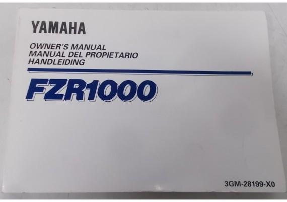 Owners Manual FZR 1000 1992 Nederlands/Engels/Frans 3GM-28199-X0