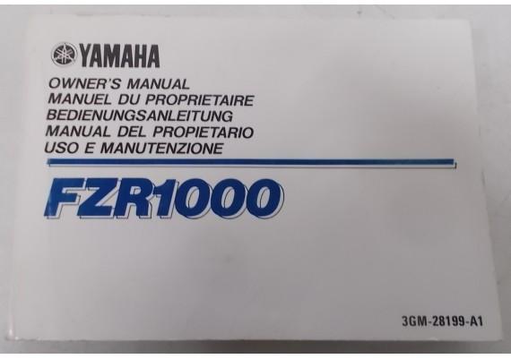 Owners Manual FZR 1000 1990 Engels/Frans/Duits/Spaans/Italiaans 3GM-28199-A1
