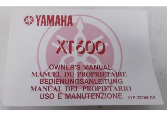 Owners Manual XT 600 1990 Engels/Frans/Duits/Italiaans/Spaans 3YP-28199-A0