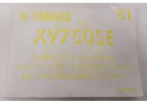 Owners Manual XV 750 SE 1981 Engels/Frans/Duits 5G5-28199-80
