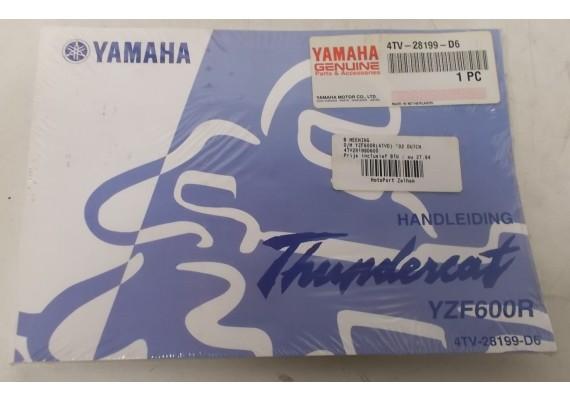 Owners Manual YZF 600 R Thundercat 2002 Nederlands NIEUW in verpakking 4TV-28199-D6