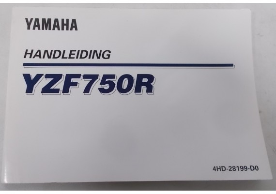 Owners Manual YZF 750 R Nederlands 4HD-28199-D0