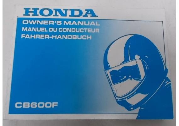 Owners Manual CB 600 F 1997 Engels/Frans/Duits 00X37-MBZ-6000