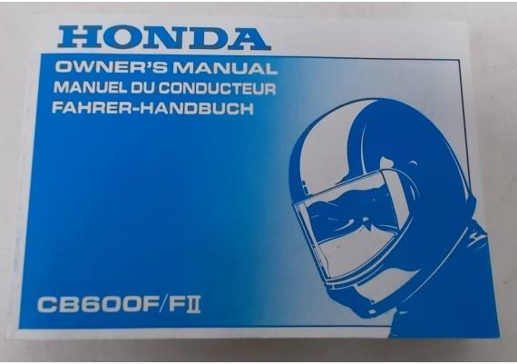 Owners Manual CB 600 F / CB 600 F2 1999 Engels/Frans/Duits 00X37-MBZ-6100