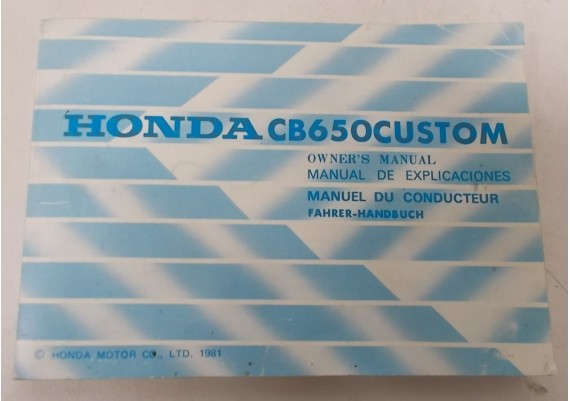 Owners Manual CB 650 Custom 1981 Engels/Frans/Duits 3646010