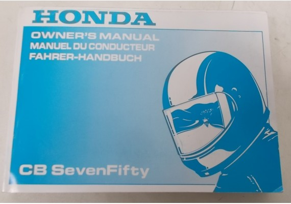 Owners Manual CB 750 Seven Fifty 1993 Engels/Frans/Duits 00X37-MW3-6100