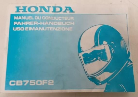 Owners Manual CB 750 F2 1991 Engels/Frans/Duits 00X37-MW3-8000