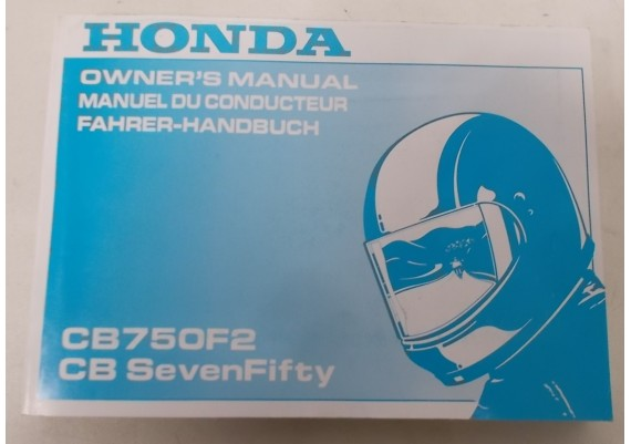 Owners Manual CB 750 Fs / CB 750 Seven Fifty 1994 Engels/Frans/Duits 00X37-MW3-6200