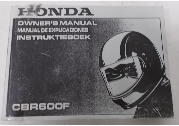 Owners Manual CBR 600 F 1991 Nederlands/Engels/Frans 00X37-MV9-6100