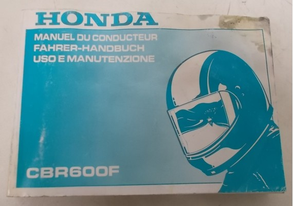 Owners Manual CBR 600 F 1992 Frans/Duits/Italiaans 00X37-MV9-8200