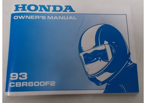 Owners Manual CBR 600 F2 1993 Engels 00X31-MV9-6200