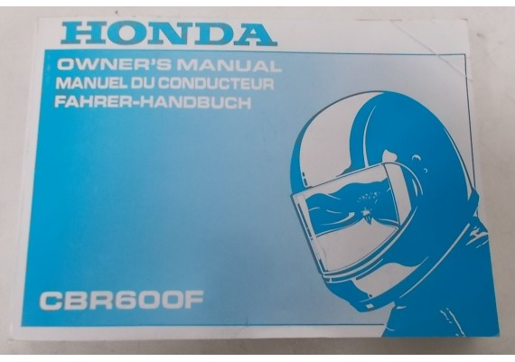 Owners Manual CBR 600 F 1993 Engels/Frans/Duits 00X37-MV9-6300