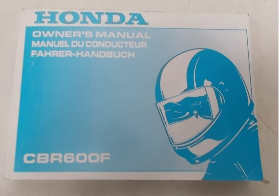Owners Manual CBR 600 F 1994 Engels/Frans/Duits 00X37-MAL-6000